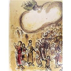Marc Chagall - Lithograph - The Story of Exodus