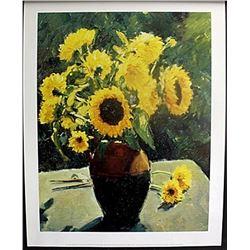 """Fine Art Print """"Sunflowers"""" by Edward Noott"""
