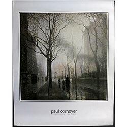 "Fine Art Print ""Plaza after the rain"" by Paul Cornyer"