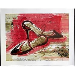 "Fine Art Print ""Best Black Heels"" by Kimberly Han"