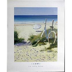 "Fine Art Print ""The Blue Bicycle"" by Henri Devil"