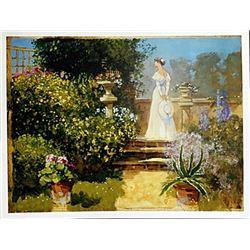 "Fine Art Print ""Secluded Garden"" by John Haskins"