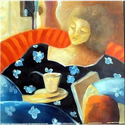 """Fine Art Print """"Saturday Morning Coffee"""" by Lee White"""