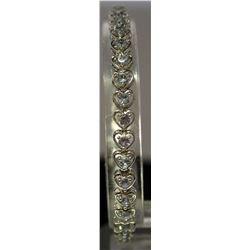 Fashionable Sterling Silver Lab Tanzanite Bracelet. (21B)