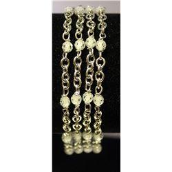 Stylish Sterling Silver Lab Agates Bracelet. (90B)