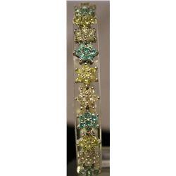 Beautiful Sterling Silver Lab White, Blue Topaz & Sapphire Bracelet. (91B)