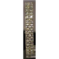 Beautiful Sterling Silver Lab Tanzanite Bracelet. (93B)