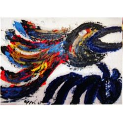 Karel Appel Oil on Paper - The Bird