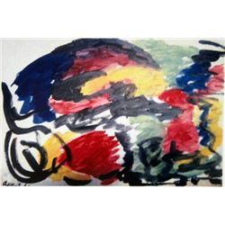 Karel Appel Oil on Paper - Improvisation