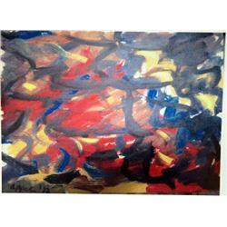 Karel Appel Oil on Paper - The Soul