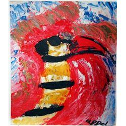 Karel Appel Oil on Paper - The Bird