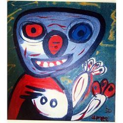 Karel Appel Oil on Paper - The Monkey