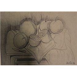 Fernando Botero - Bodegon Con Frutas
