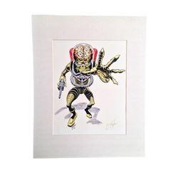 Mars Attack Ed Repka Autographed Artwork