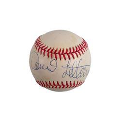David Letterman Signed Baseball