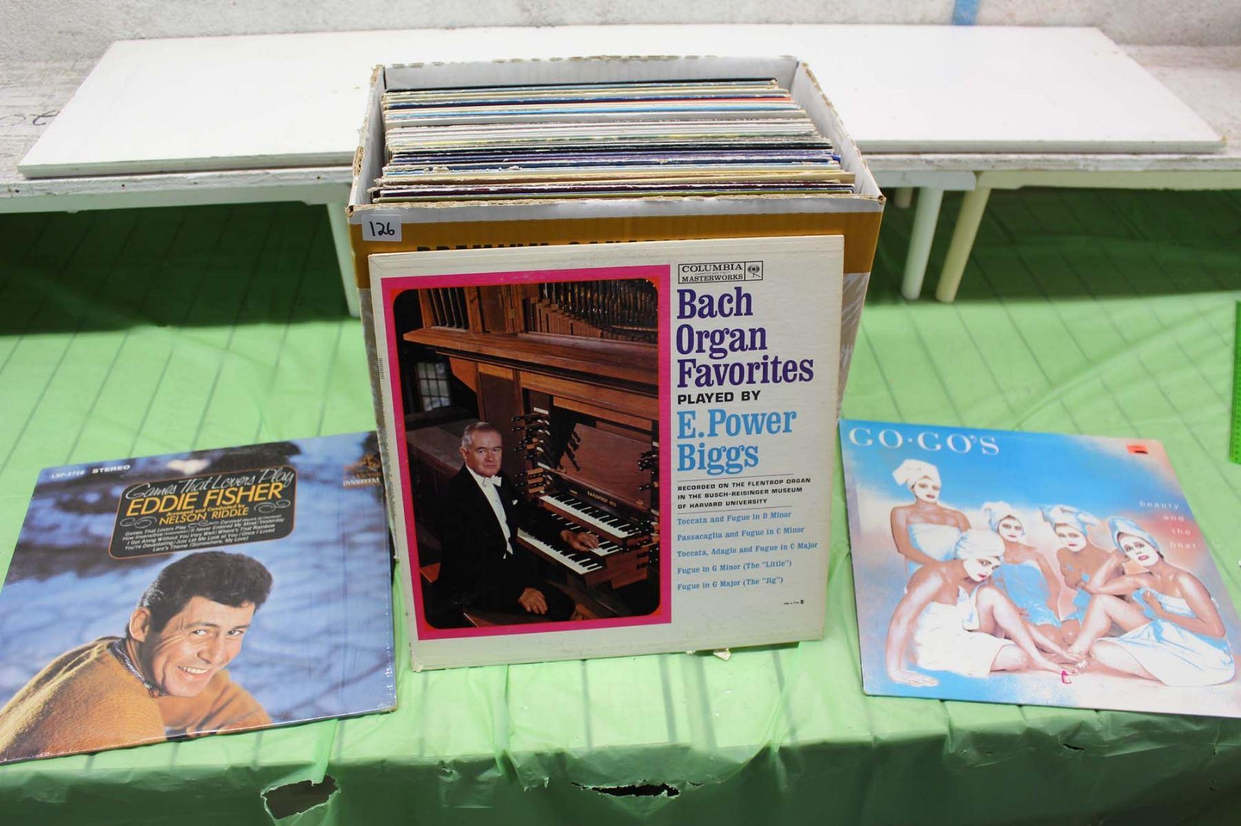 Misc Records (Go Gos, Bach organ Favorites, Eddie Fisher, Etc