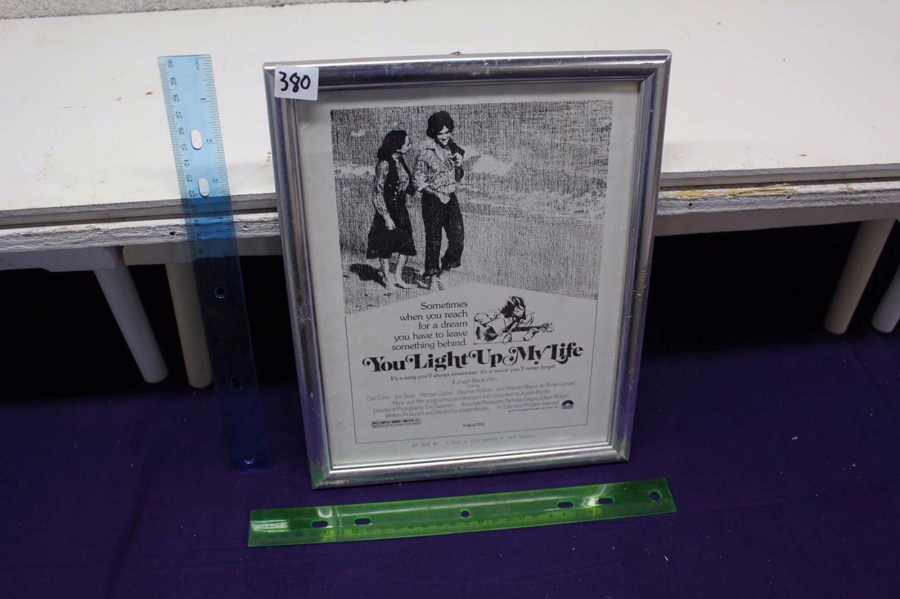 """14a093e5b584 Image 1   """"You Light Up My Life"""" Original Framed Ad Slick"""