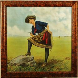 Framed Cowgirl Image