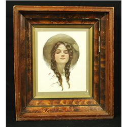 Cowgirl Lithograph