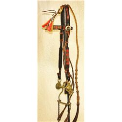 Black Horsehair Headstall