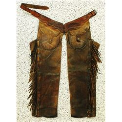 """B"" Leather Shotgun Chaps"