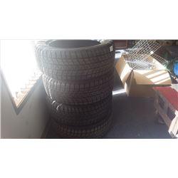 Set of four Bridgestone Blizzard tires (newer) P245/55 R19 - 103P