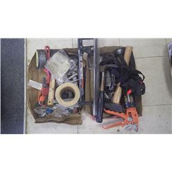 2 trays of tools (crescent wrench, hammers, hack saw, vice grips and miscellaneous)