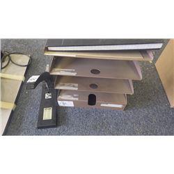 heavey duty stapler; file organizer; ledger book