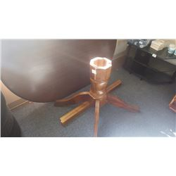 Oval centre pedestal wood table