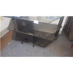 Black glass TV entertainment centre