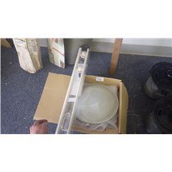 Flush mount light and kids drapery rod set
