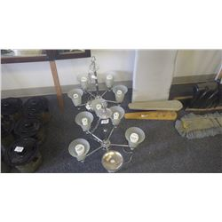 Set of 2 chrome chandeliers