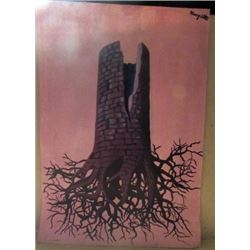 Signed Mixed Media Magritte