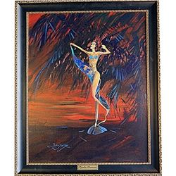 "Oil on Canvas ""Exotic Dancer"" by Sergey"