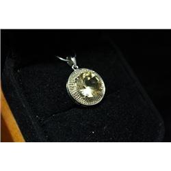 Lavish Citrine Silver Pendant (6M)