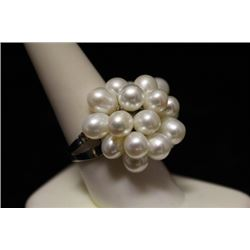 Fancy Pearl Silver Ring (8M)