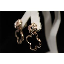 Exquisite 14kt Rose Gold over Silver Earrings (9M)