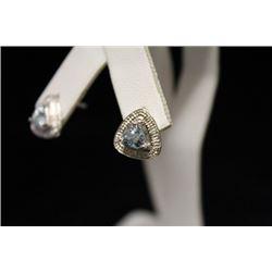 Lavish Topaz & Diamond Silver Earrings (15M)