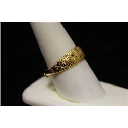 Fancy 14kt Gold over Silver Ring (17M)