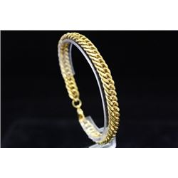 Gorgeous Unisex 14kt Gold over Silver Bracelet (19M)