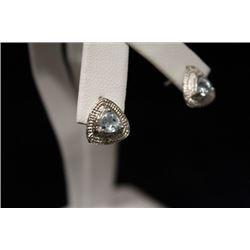 Dazzling Topaz & Diamond Silver Earrings (23M)