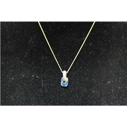 Fancy 14kt Gold over Silver Topaz Necklace (35M)