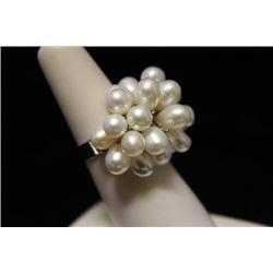 Fine Pearl Silver Ring (39M)