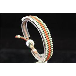 Fine Links London Green & Red Silver Bracelet (57M)