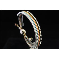 Lavish Links London Blue, Pink, Yellow & Black Silver Bracelet (60M)