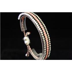 Exquisite Links London Pink & Black Silver Bracelet (63M)