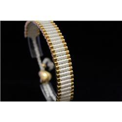 Stunning 14kt Gold Over Silver Links London White Bracelet (67M)