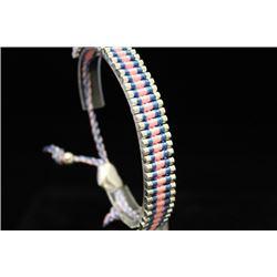 Gorgeous Links London Blue & Pinks Silver Bracelet (109M)