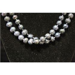 Elegant Blue Pearls Necklace (110M)