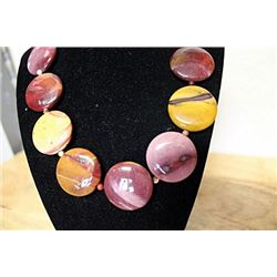 Amethyst Tiger Eye Rose Garnet Necklace